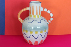 colourful pottery