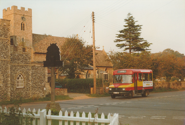 Eastern Counties C911 BEX in Barton Mills - 14 Oct 1998