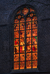 Stained glass window of the Sint Matthias Church