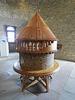Maquette de la structure en houd du donjon.