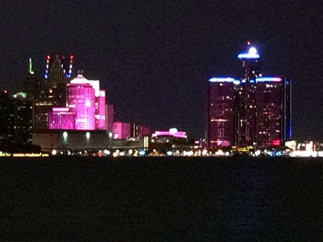 Detroit; illuminated