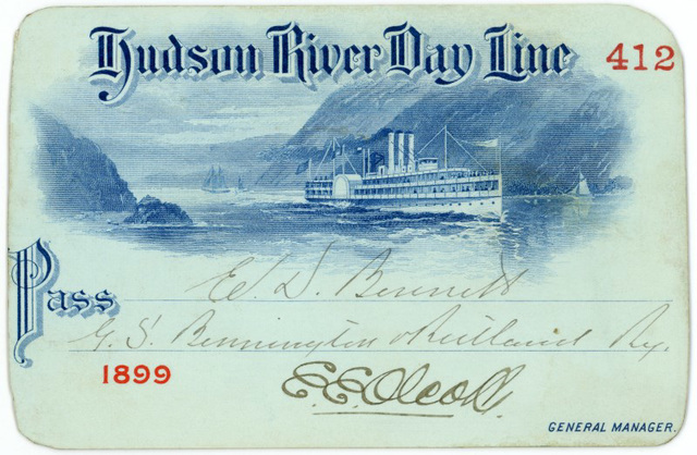 Hudson River Day Line Pass, 1899