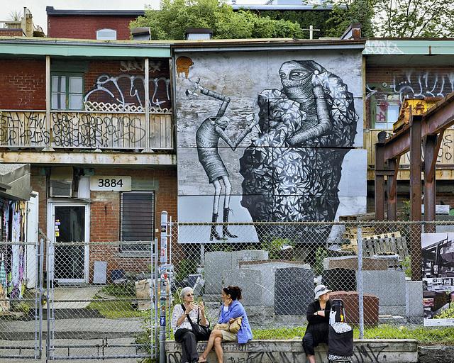 The Monument Maker's Yard – boul St-Laurent between St. Cuthbert and Bagg Streets, Montréal, Québec