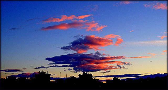 Pleasing cloud formation