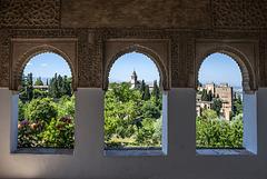 Vista de la Alhambra desde los jardines del Generalife