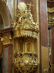 P6096949ac Melk Church Sunny Golden Pulpit