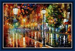 """Street of illusions"" by Leonid Afremov"