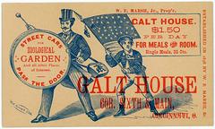 Galt House, Cincinnati, Ohio, ca. 1880s