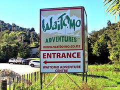 Waitomo Entrance Notice.