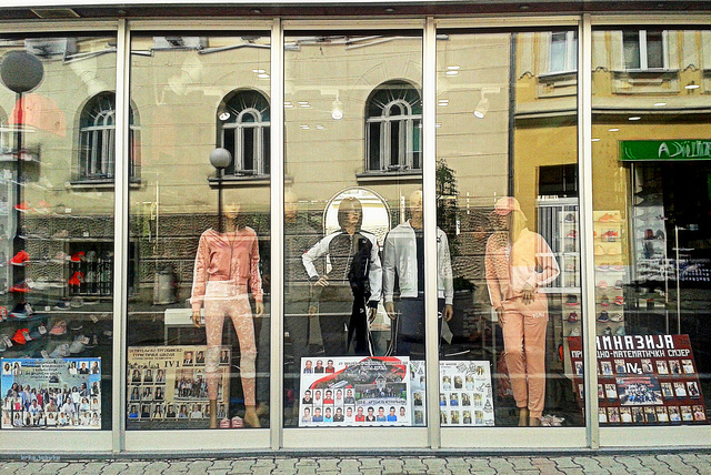 Look at shop-window