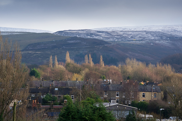 A little snow on the hills