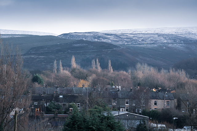 A little snow on the hills ( Cool Processing )