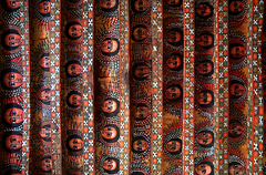 The ceiling of Debre Berhan Selassie Church, Gondar