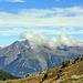 Blick auf die Ötztaler Alpen und hinab ins Tal auf den Reschensee