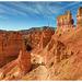Descending in the orange rocks, Bryce canyon
