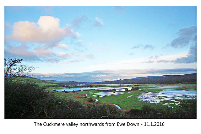The Cuckmere valley from Ewe Down - 11.1.2016
