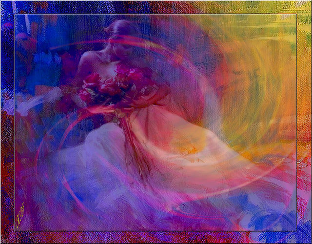 Robes de soie et de velours Aux teintes les plus pures, Parfums étranges et lourds.