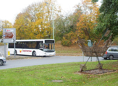 DSCF0256 Coach Services (Thetford) BU16 OZO and the St. Edmund's Crown - 7 Nov 2017