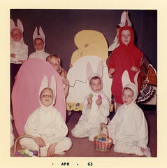Quizzical Kids in Easter Costumes