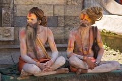 Deux Sâdhu à Katmandou