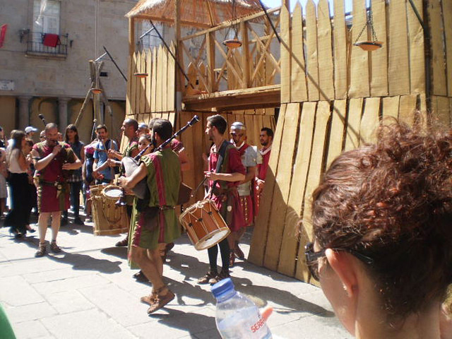 Romans playing celtic music.
