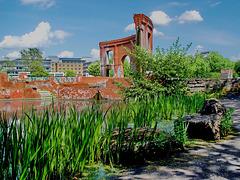 Saarbrücken, künstliche Ruine im Bürgerpark