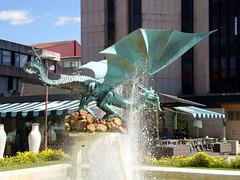 Dragon fountain.