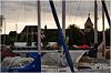 Sehr gespannter Durchblick auf das Münster der ehemaligen Benedektinerabtei St. Maria und Markus (Weltkulturerbe der UNESCO)