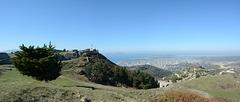 Albania, Vlorë, Ruins of the Castle of Kaninë on the Hill