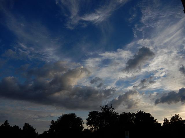 le ciel hier soir avant l'orage