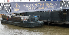 Beer Delivery to the Pub on the Thames