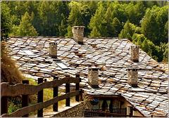Jouvenseaux : un bel tetto in pietra