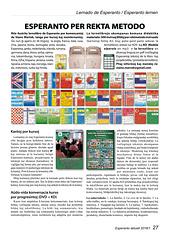 Esperanto per rekta metodo, Kantoj por kursoj, Aŭdo-vida konversacia kurso de Esperanto por progresintoj