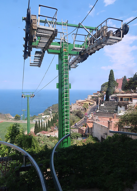 Upper cable-car station