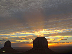glorious sunrise in Monument Valley