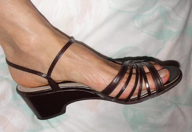 wife in Vintage amano wedge heels