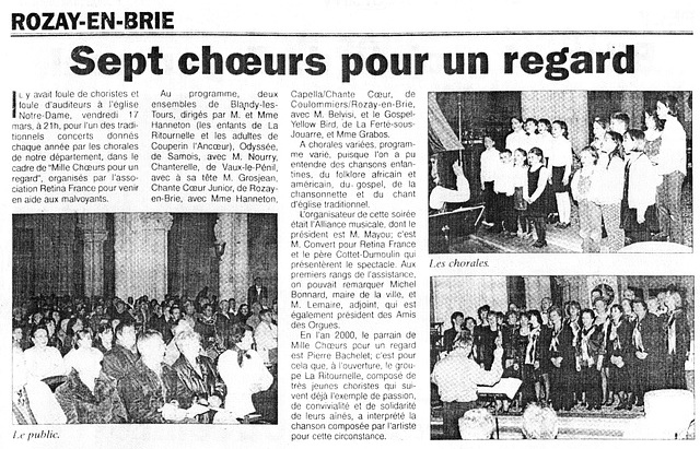 Concert à Rozay-en-Brie le 17 mars 2000
