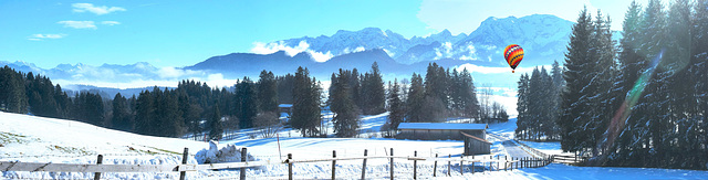 Glorious days. From Zugspitze (left) to the Tyrolean Mountains... ©UdoSm