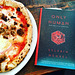 Reading with pizza