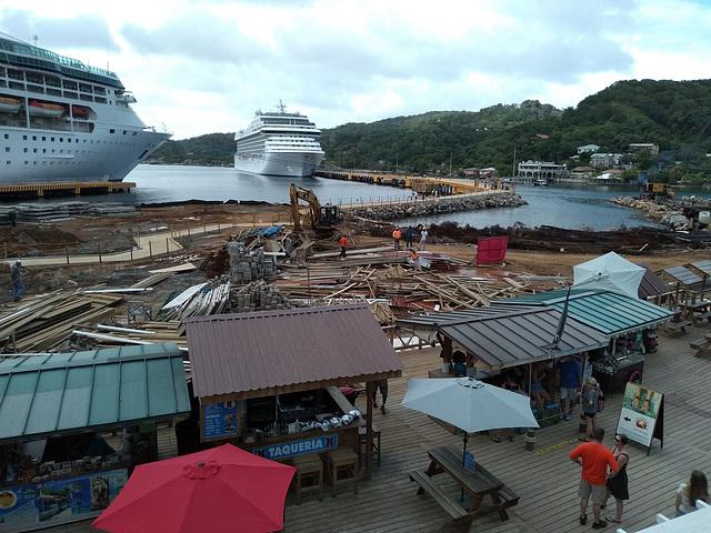 Roatan Cruise Port Under Construction (HFF)