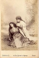 Marie Gabrielle Krauss  & Josephine Daram by Benque