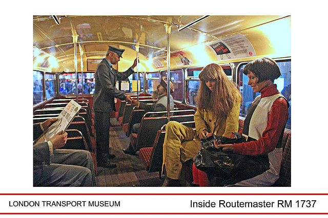 LT Museum inside a Routemaster bus - 17.2.2016