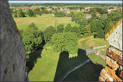 On the very top,  of..... 'Tattershall castle'