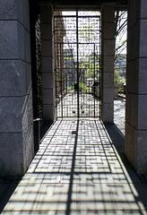 Im Innenhof des Amtsgericht Hamburg