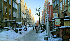 Gdańsk ul. Mariacka / Danzig Straße Mariacka