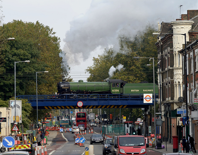 Steam train at South Tottenham