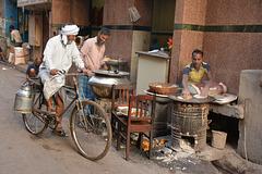 Busy breakfast stall