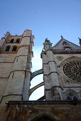 Cathédrale de León, arc-boutants (Castille-et-León, Espagne)