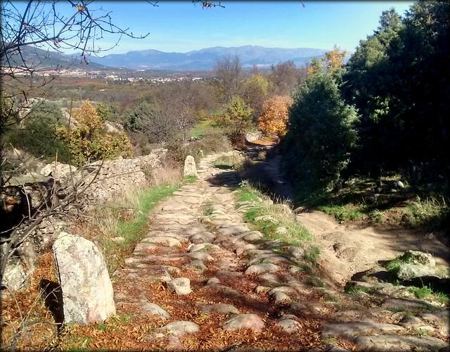 Roman road near San Lorenzo de El Escorial and Zarzarlejo