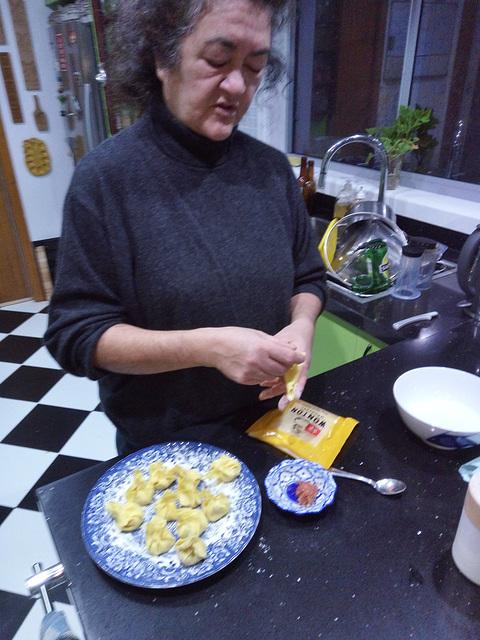 salami gyoza